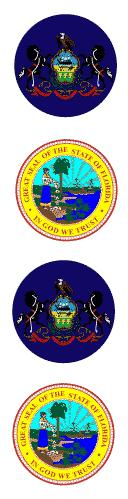 state seals Pa and Fl